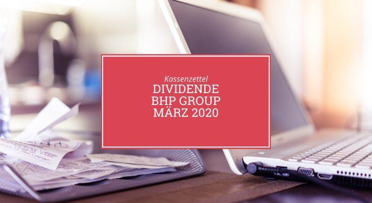 Kassenzettel: BHP Group März 2020