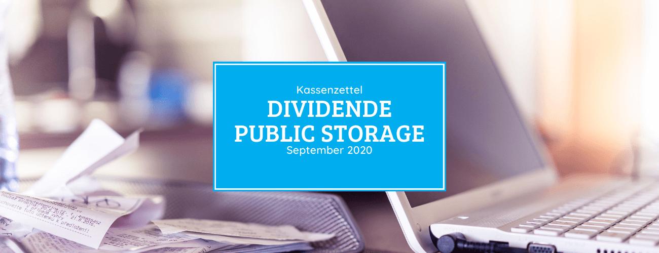 Kassenzettel: Public Storage Dividende September 2020