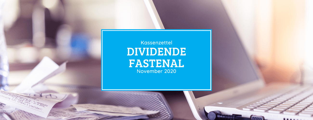 Kassenzettel: Fastenal Dividende November 2020