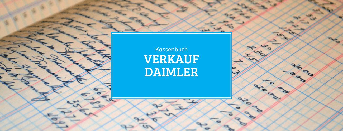 Kassenbuch - Verkauf der Daimler Aktie 25.01.2021